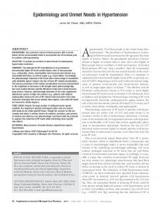 Epidemiology and Unmet Needs in Hypertension - Academy of ...