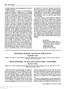 Epidemiology, Biostatistics, and Preventive Medicine Review By ...