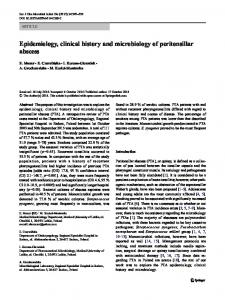 Epidemiology, clinical history and microbiology of ... - Springer Link