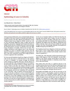 Epidemiology of cancer in Colombia - SciELO Colombia