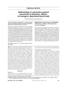 Epidemiology of community-acquired pneumonia in ... - Hindawi