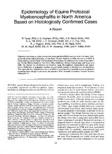 Epidemiology of Equine Protozoal ... - Wiley Online Library