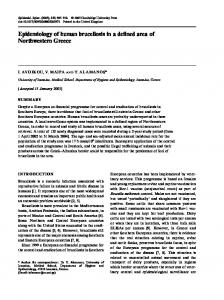 Epidemiology of human brucellosis in a defined area of Northwestern ...