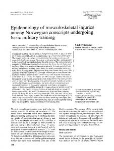Epidemiology of musculoskeletal injuries ... - Wiley Online Library