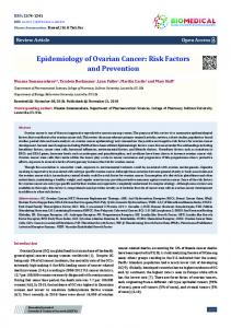 Epidemiology of Ovarian Cancer: Risk Factors and Prevention - BJSTR