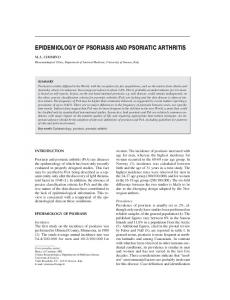 epidemiology of psoriasis and psoriatic arthritis - Semantic Scholar