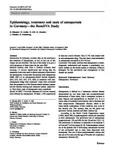 Epidemiology, treatment and costs of osteoporosis in ... - Springer Link
