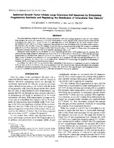Epidermal Growth Factor Inhibits Large Granulosa Cell Apoptosis by ...