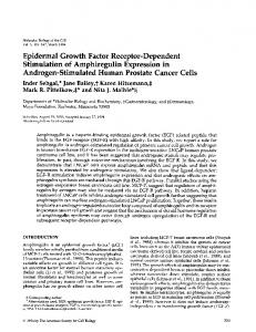 Epidermal Growth Factor Receptor-Dependent ... - Europe PMC