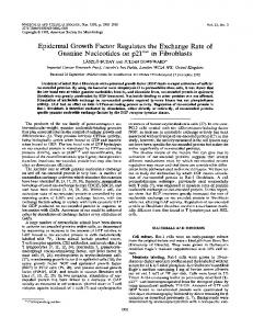 Epidermal Growth Factor Regulates the Exchange Rate of Guanine ...
