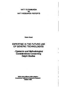 Epistemic and Methodological Considerations Concerning ... - Core