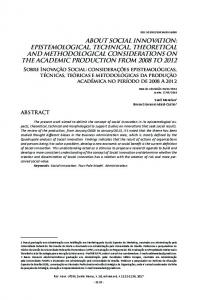 epiStemologicAl, technicAl, theoreticAl And methodologicAl