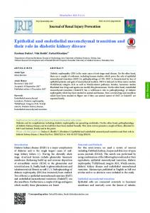 Epithelial and endothelial mesenchymal transition