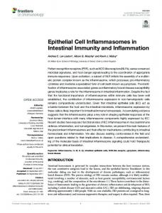 Epithelial Cell Inflammasomes in Intestinal ... - Semantic Scholar