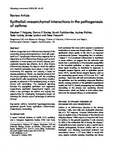 Epithelial-mesenchymal interactions in the pathogenesis of asthma