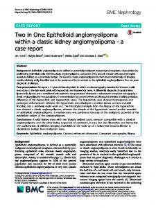 Epithelioid angiomyolipoma within a classic kidney