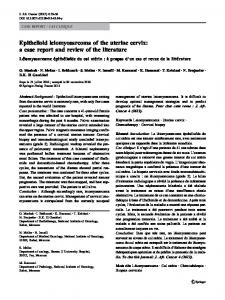 Epithelioid leiomyosarcoma of the uterine cervix: a ... - Springer Link