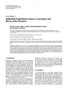 Epithelioid Trophoblastic Tumor: A Case Report and Review of the ...
