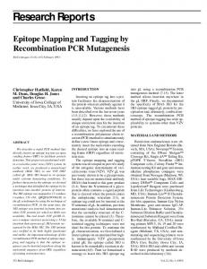 Epitope Mapping and Tagging by Recombination ... - BioTechniques