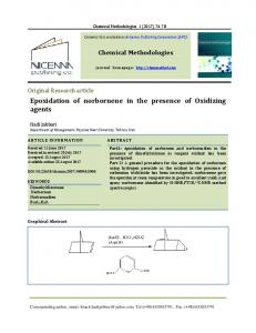 Epoxidation of norbornene in the presence of