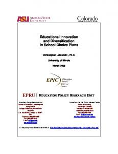 EPRU - National Education Policy Center - University of Colorado ...