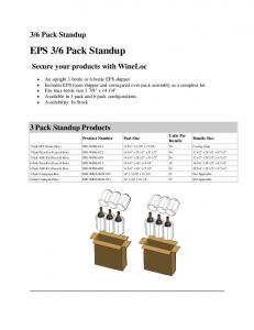 EPS 3/6 Pack Standup