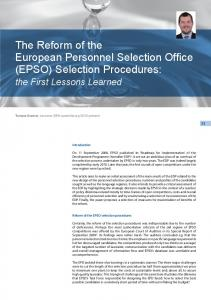(EPSO) Selection Procedures - EIPA