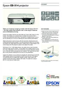 Epson EB-X14 projector - Projector Central