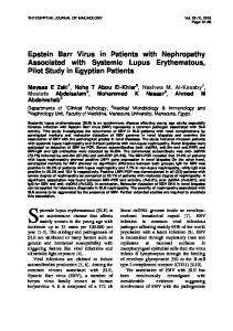 Epstein Barr Virus in Patients with Nephropathy ...