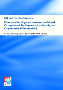 EQ and the Bottom Line: Emotional Intelligence Increases Individual ...