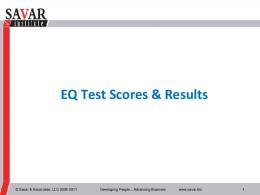 EQ Test Scores & Results - pmiwdc