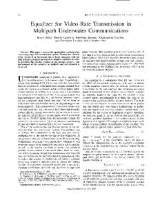 Equalizer for Video Rate Transmission in Multipath ... - IEEE Xplore