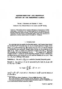 EQUIDISTRIBUTION AND BROWNIAN MOTION ON THE SIERPI ...