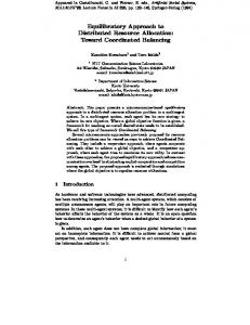 Equilibratory Approach to Distributed Resource Allocation: Toward ...