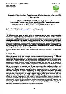 equilibrium and kinetics study of reactive dyes removal from aqueous ...
