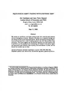 EQUILIBRIUM ASSET PRICING WITH SYSTEMIC RISK ... - CiteSeerX