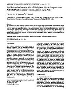 Equilibrium Isotherm Studies of Methylene Blue Adsorption onto ...