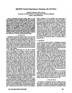 EQUIPE: Parallel Equivalence Checking with GP ... - EECS @ Michigan