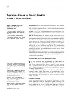 Equitable access to cancer services - Patient Navigator Training ...