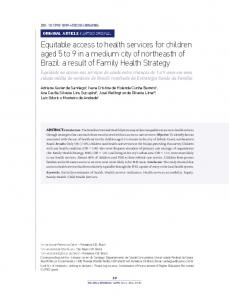 Equitable access to health services for children
