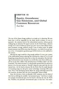 Equity, Greenhouse Gas Emissions, and Global ... - Semantic Scholar