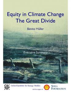 equity in climate change: the great divide - Oxford Climate Policy