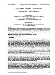 Equity Market Timing and Capital Structure: Evidence from ... - CiteSeerX