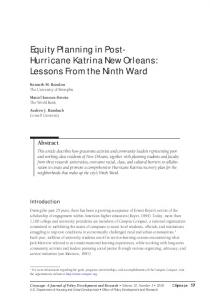 Equity Planning in Post-Hurricane Katrina New Orleans ... - HUD User