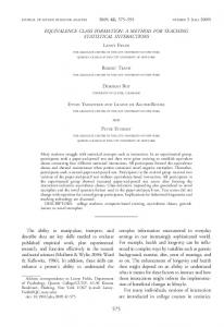 EQUIVALENCE CLASS FORMATION: A METHOD FOR ... - Eric