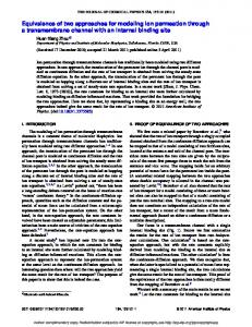Equivalence of two approaches for modeling ion ... - Semantic Scholar