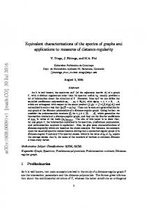 Equivalent characterizations of the spectra of graphs and applications ...