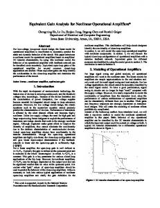 Equivalent Gain Analysis for Nonlinear Operational Amplifiers*