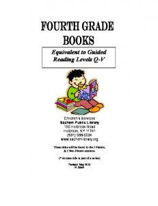 Equivalent to Guided Reading Levels Q-V - Sachem Public Library