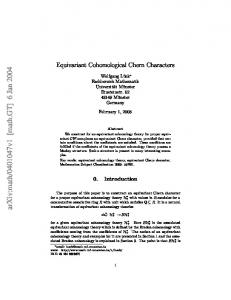 Equivariant Cohomological Chern Characters
